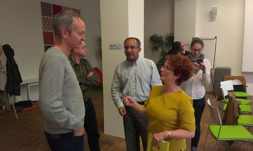 LFotCR members Sam Beckwith and Tanweer Ali with Hazel Blears